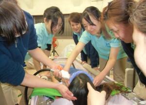 洗髪研修2